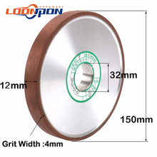 150mm parallel Diamond Grinding Wheel Grinding Circle 12mm thickness for Tungsten Steel Milling Cutter Tool Grit 80-400