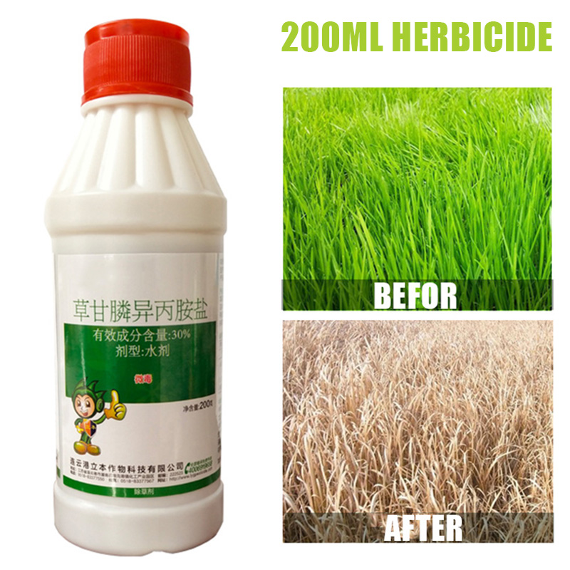 200ml Glyphosate Weed & Grass Killer Super Concentrate Volume Herbicide Kill Grass Pesticide Directional Stem & Leaf Spray