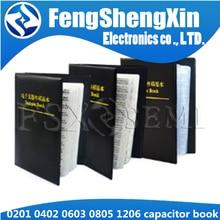 Конденсатор 0201 0402 0603 0805, книга образцов, 0,5 пФ ~ 10 мкФ SMD чип конденсаторы Ассортимент Комплект 80/90/92 значения X50 шт 25 шт