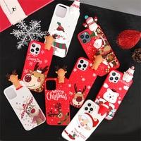 Cartoon 3D Doll Merry Christmas Deer Case per Xiaomi Redmi Mi Note 9A 8A 6X S2 A2 CC9e 11 10 Lite 9 9S 8 8T 7 6 5 Pro Max SE TPU