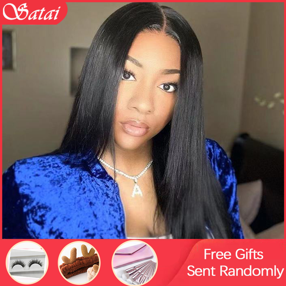 Pre Plucked Full Lace Human Hair Wigs 180 Density Glueless Full Lace Wigs Brazilian Straight Full Lace Wig Remy Human Hair Wigs