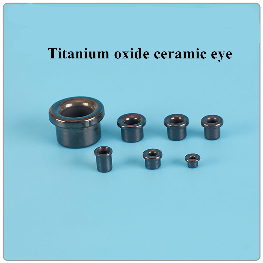 Titanium Oxide Ceramic Eye Textile Winding Machine Wear Resistant Alumina  Porcelain Bead  Wear Resistant Alumina Magnetic Bead