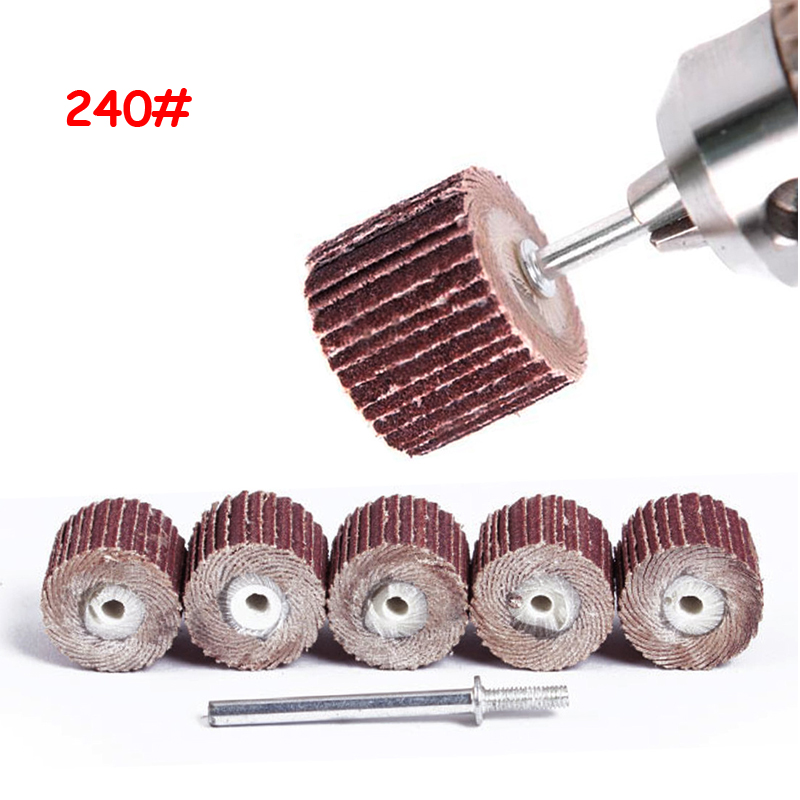 10Pcs Dremel Accessories 240-Grit Sanding Flap Disc Grinding Sanding Flap Wheels Brush Sand Rotary Tool 10 X 10x 3mm