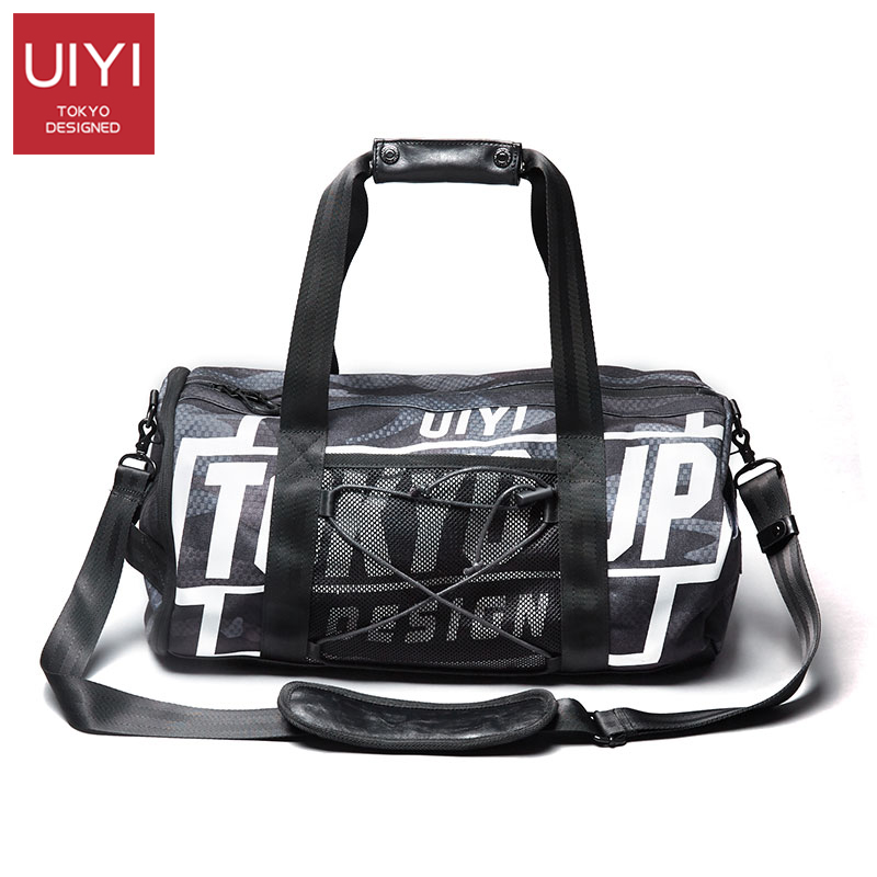 Men's Letter Camouflage Handbag Polyester Shoulder Travel Bag Men's Fitness Shoe Bag Sports Bags Men's Messenger Shoulder Bag