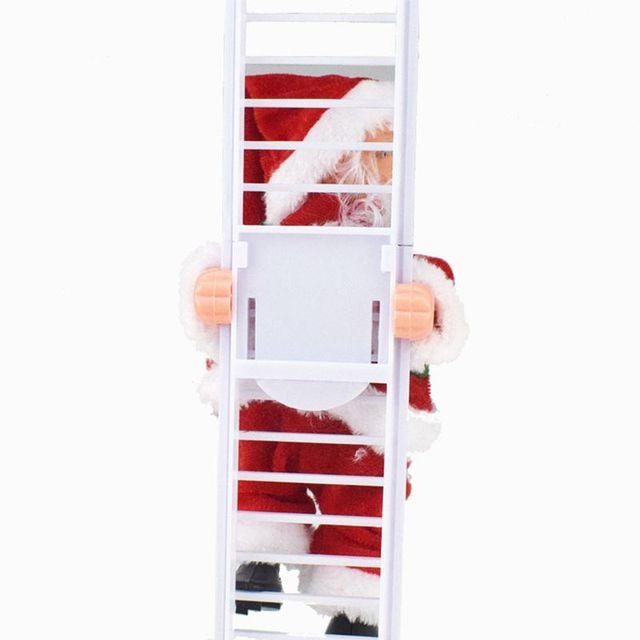 электрический санта клаус лестница для альпинизма кукла украшение фотография