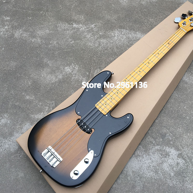 2019 High quality electric bass guitar,TL style-4 strings bass,2ts color with Mahogany body And maple neck,free shipping