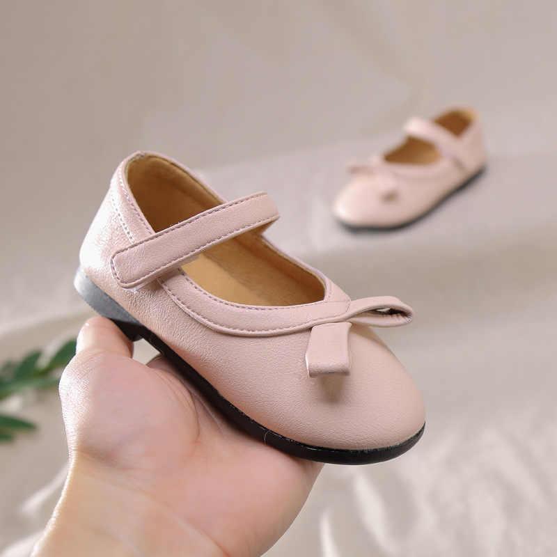 Claladoudou 14-16 ซม.แบรนด์ 2020 ฤดูใบไม้ผลิรองเท้าสีดำสีชมพู PURE Girl อย่างเป็นทางการรองเท้าสำหรับงานแต่งงานเด็กวัยหัดเดินหญิงรองเท้า