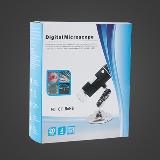 LCD Digital Microscope 1600X Digital Zoom Mini Microscope Camera Compatible for Android,Mac,Window,Linux