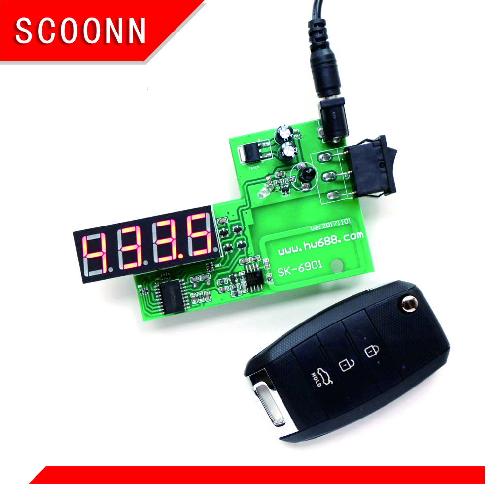 Car IR Infrared Remote Key Frequency Tester Remote Control Digital Frequency Test (Frequency Range 100-999MHZ)