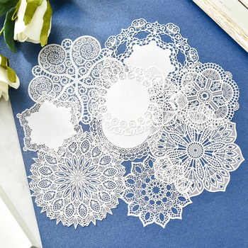 ZFPARTY  White Lace Paper Doilies/Placemats for Wedding Party Decoration Supplies Scrapbooking Paper Crafts 19706 1