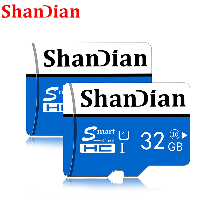 SHANDIAN Micro Sd Card TF Card Class10 Mini Card Micro Sd  64GB 32GB 16GB 8GB External Pen Drive Flash Memory Disk For Phone