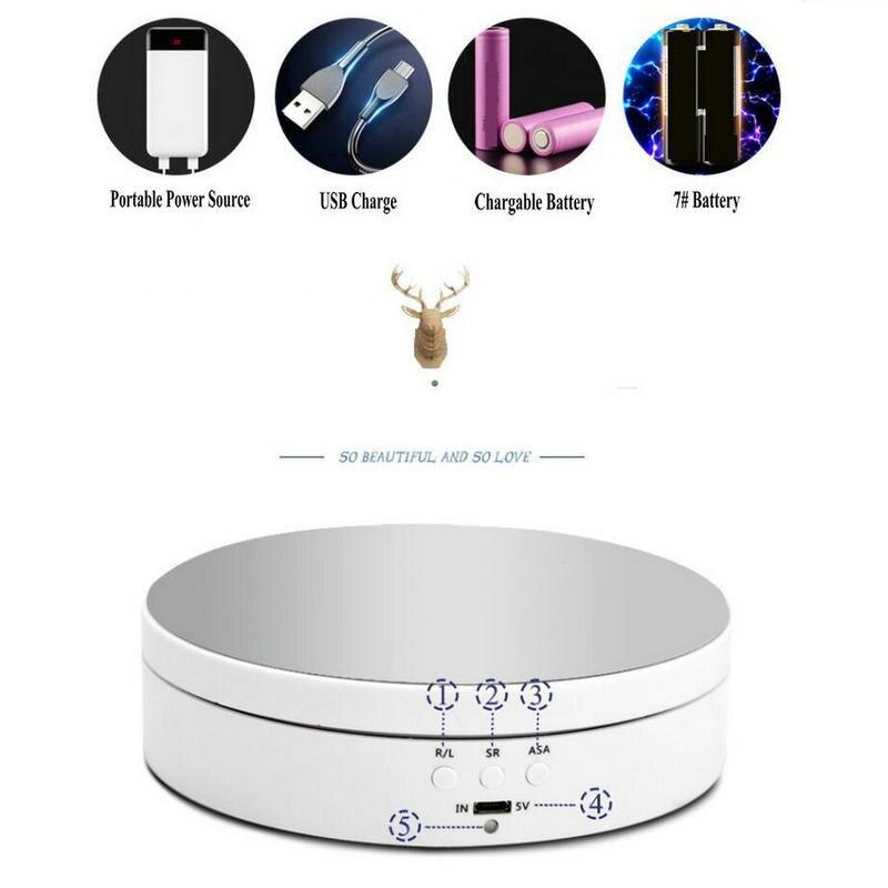 HQ batterie/USB Power 138MM | 3 vitesses + 4 anges, platine électrique rotative, socle d'affichage de marchandises, plateforme rotative automatique