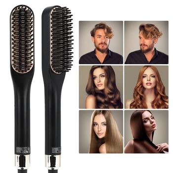 Hair Straightener Curling Beard Comb Straight Hair Comb Brush Hair Beard Curly Tool Bear Brush Beauty Health Styling For Men 2