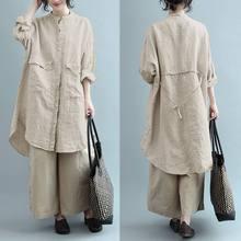 Fashion Linen Shirt Vestidos Women Spring Sundress ZANZEA Casual Long Sleeve Blusa Female Solid Asymmetrical Tunic Plus Size