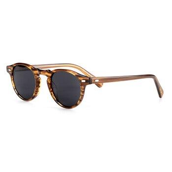 Мужские солнцезащитные очки в стиле ретро с круглой оправой
