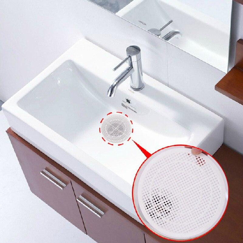 VACCLO Drain Filter Bath Sink Strainer Shower Drain Cover Trap Basin Filter Cleaning Net Home White Drain Screen Mesh Hair