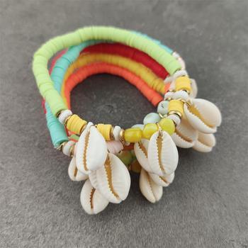 Colorful Vinyl Bracelet Jewelry Bracelets f02846ee759da375bf7e2a: aqua green orange red yellow