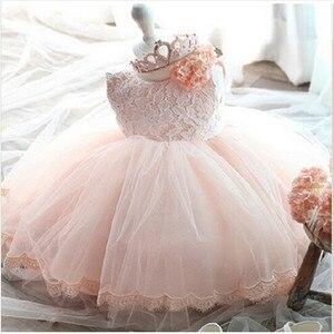 Детское платье для девочек 1 год рождения, белое платье для крещения, платье принцессы, свадебное платье для малышей, платье для крещения новорожденных