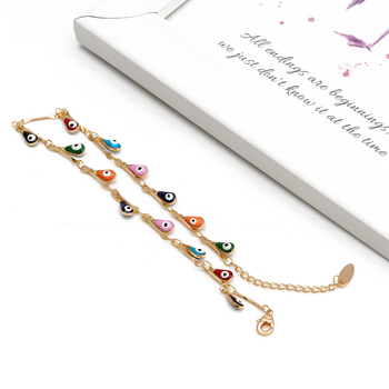 Lucky Eye Water Drop Star Sun Anklet Gold Color Leg Chain Ankle Bracelet Adjustable Fashion Foot Jewelry for Women Girls EY6528 3