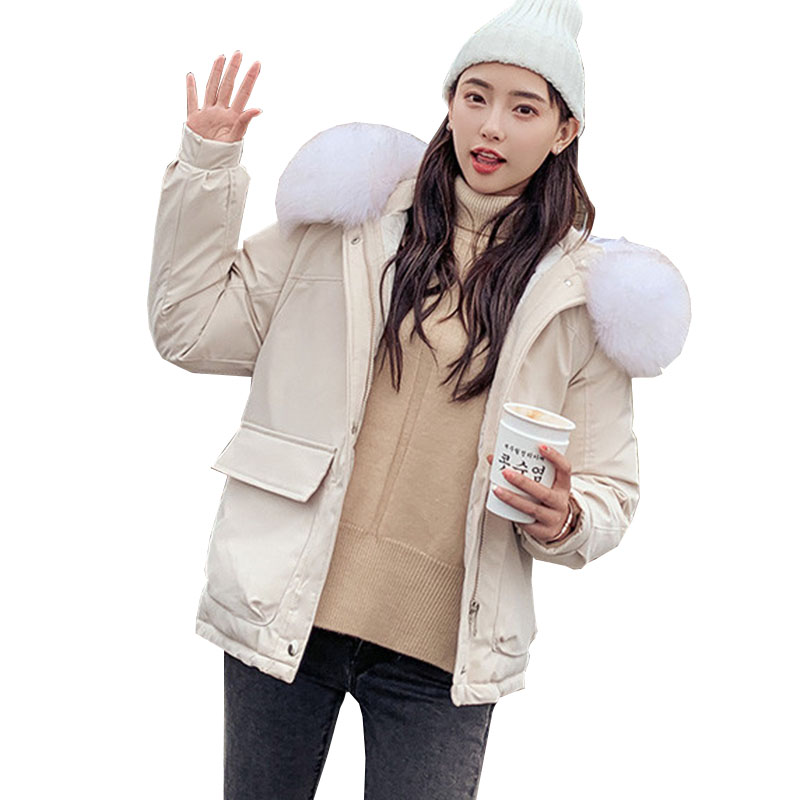 2019 New Autumn winter Women   parka   Hooded Outwear Coat Jacket Solid zipper Long sleeve Thick warm Fashion Cotton clothing C51