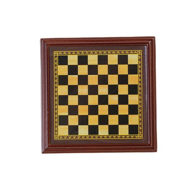Jeu d'échecs en bois échiquier avec pièces en metal 6
