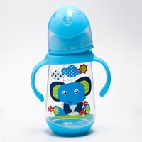 Bottle for feeding, 360 ml., Wide neck, color blue 4313608
