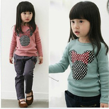 Autumn New Children's Clothing Girls Autumn Long-sleeved Cute Embroidered Long-sleeved Shirt Korean Long-sleeved T-shirt