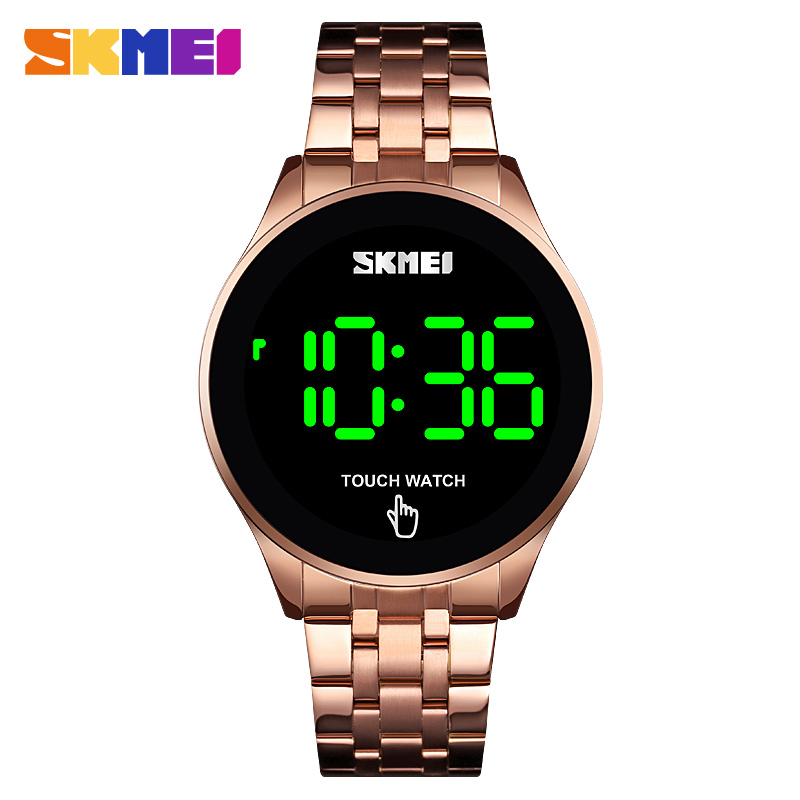 SKMEI Fashion Mens Watches Stainless Steel LED Sports Military Wristwatches Electronic Digital Watches Present relogio masculino Digital Watches     - title=