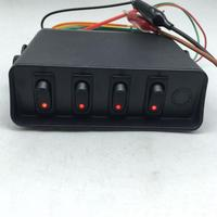 Car And Boat 4 Digit 3Pin Round Switch Panel Control System With Wiring Combination With Mounting Bracket