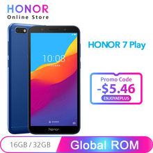 Original Honor 7 Play 2G 16G / 2GB 32GB MT6739 Quad Core 4G LTE 5.45 Inch 1440*720P 13.0MP Android 8.1 OTA Update Mobile Phone
