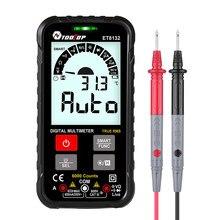 TOOLTOP – multimètre numérique Intelligent ET8132, 600V, courant de tension Ohm, capacité Hz AC DC NCV, testeur de multimètre avancé
