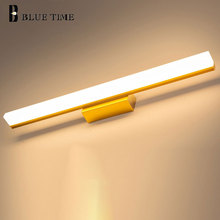 Bathroom Lamp Modern Led Wall Barthroom Light Mirror Front Gold Black Silver Sconce 120 100 80 60 40cm