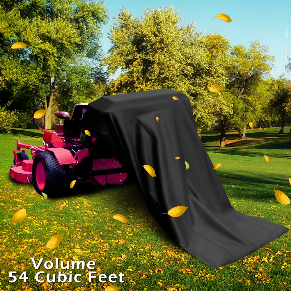 Lawn Tractor Leaf Bag Black Low Elastic Wire Riding Mower Huge Universal Collection System Leaf Bag  Trash Bag