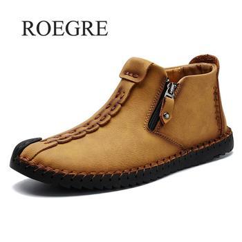 Marka klasyczne męskie obuwie wsuwane skórzane męskie mokasyny buty włoski styl designerski ręcznie robione mokasyny męskie buty rozmiar 38-48 tanie i dobre opinie ROEGRE Skóra Split Gumowe 9025 Slip-on Stałe Pasuje prawda na wymiar weź swój normalny rozmiar Oddychająca Masaż