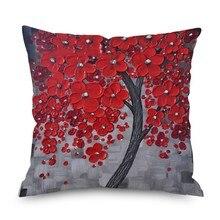 Hot Creative European Decorative Throw Pillow Cushion Cover Home Decor Wedding Christmas 3D Oil Painting Pillowcase