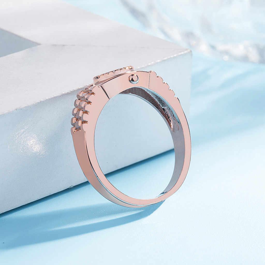 טבעות לנשים אופנתי מינימליסטי שעון טבעת כסף מצופה תכשיטי משלוח кольцо женские regalos para mujer moda mujer 2020