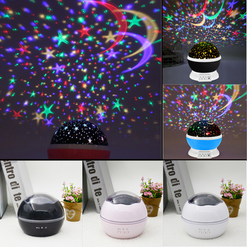 Starry Sky  Night Light Planet Magic Projector Earth Universe LED Lamp Colorful Rotate Flashing Star Babysbreath Christmas Gift mew starry sky babysbreath autorotation led night light