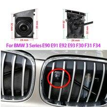 Ccd câmera de visão frontal do carro logotipo embeded para bmw série 3 e90 e91 e92 e93 f30 f31 f34 2008-2019 à prova dwaterproof água visão noturna ccd hd