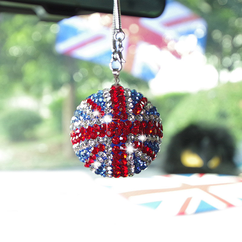 Bling-Car-Rear-View-Mirror-Pendant-Crystal-Ball-Rhinestone-Hanging-Ornament-For-Mini-Cooper-Car-Charm-Decoration-2