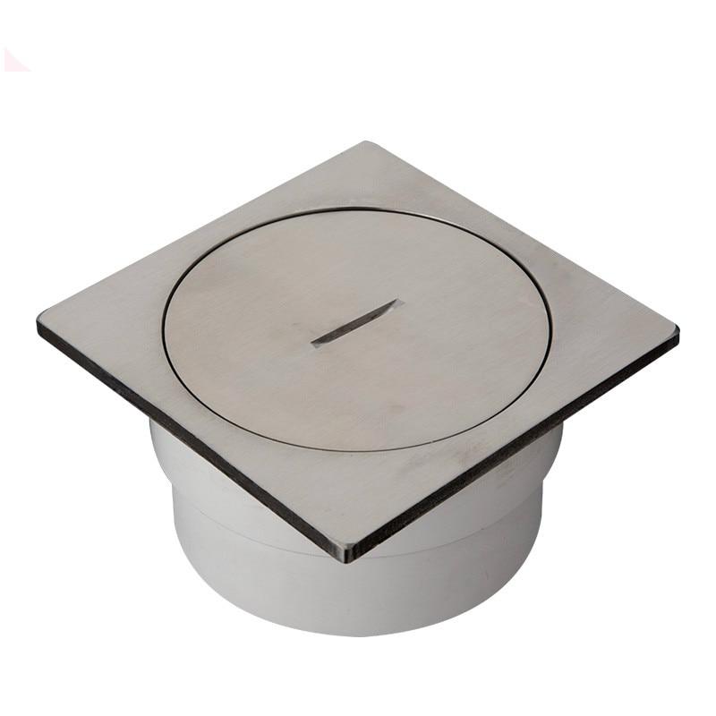 Drain de sol PVC-U drainage drain de sol inspection de sol bouchon de nettoyage de bouche en acier inoxydable ingénierie