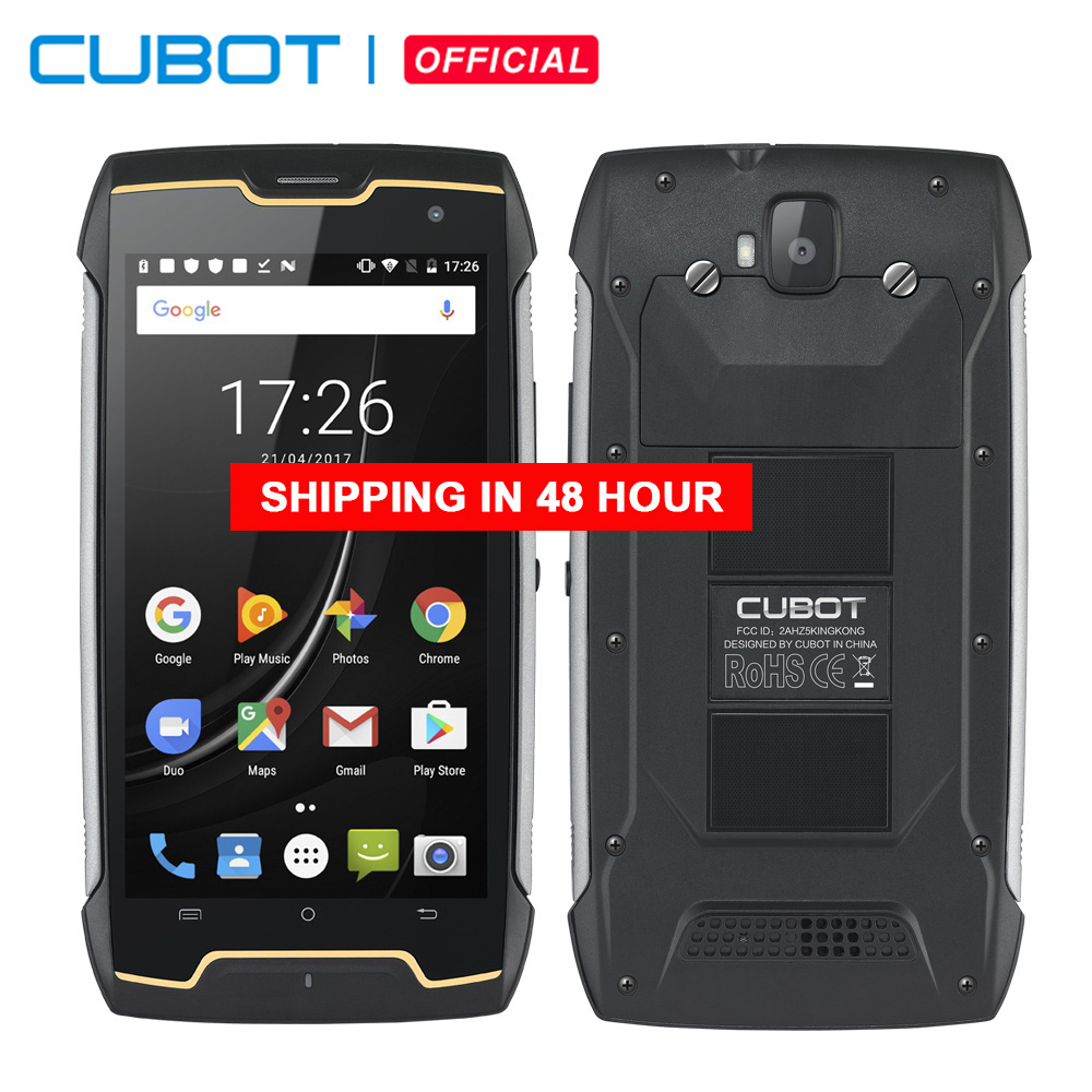 Cubot KingKong Smartphone Rugged IP68 Impermeabile 4400mAh Grande Batteria Bussola + GPS 3G Dual-SIM Android 7.0 2GB di RAM 16GB di ROM MT6580