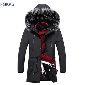 Image 1 - FGKKS Men High Quality Fashion Parkas Winter Male New Arrival Warm Fashion Parka Coats Mens Casual Jacket Hooded Parkas