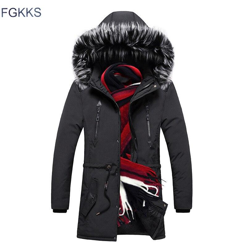 FGKKS Men High Quality Fashion   Parkas   Winter Male New Arrival Warm Fashion   Parka   Coats Men's Casual Jacket Hooded   Parkas
