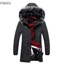 Fgkks 男性高品質のファッションパーカー冬男性新着ウォームファッションパーカーコートメンズカジュアルジャケットフード付きパーカー