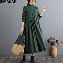 Dimanaf женское платье большого размера с длинным рукавом водолазка