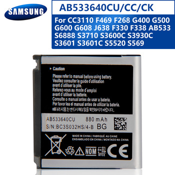 Samsung Original AB533640CU Battery For Samsung S6888 S3710 S3600C GT-S3600i S3930C S5520 S569 Replacement Phone Battery 880mAh