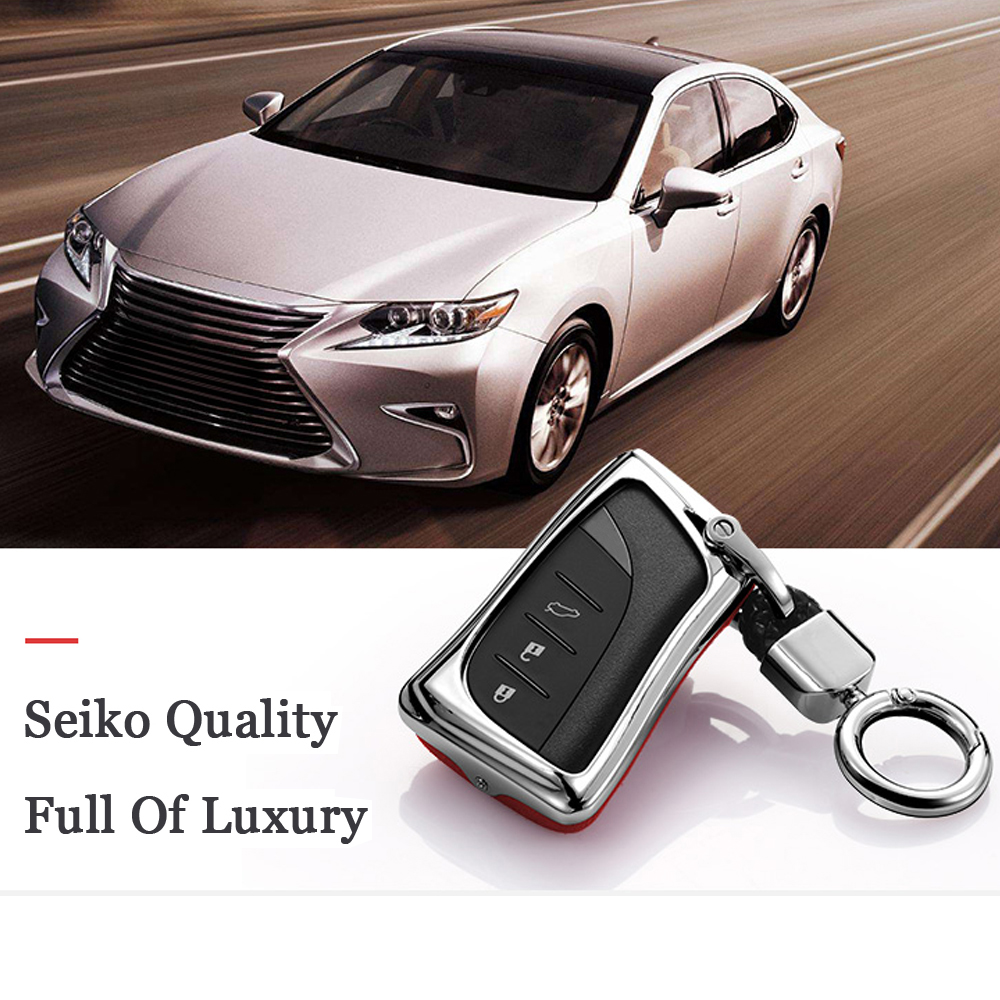3 button car key protector For <font><b>Lexus</b></font> IS ES GS NX <font><b>RX</b></font> LX LC RC ES200 ES260 LS350 2018 <font><b>2019</b></font> Keyless cover case Fob Suede Leather image