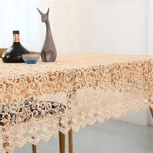 Image 3 - Proud Rose Light Coffee Embroidered Table Cloth European Lace Tea Table Cloth Home Decor Rectangular Tablecloths Table Cover