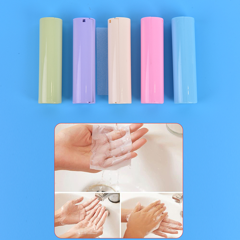2PCS Mini Portable Pull Scented Slice Soap Paper Travel Hand Washing Soap Papers