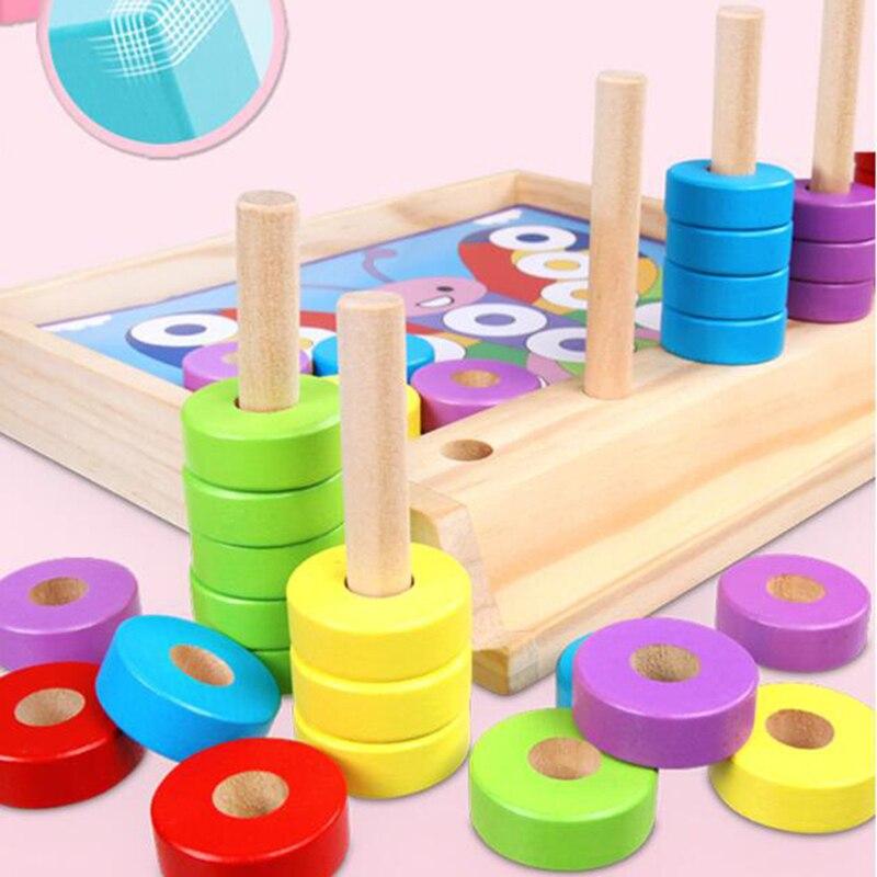 Math Shapes Geometric Wooden Toys Montessori Puzzle Gift USA FAST